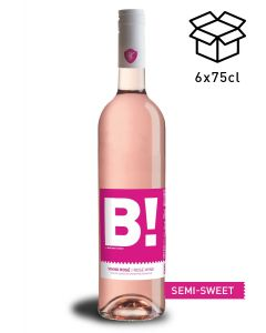 vinho rose semi sweet b! by wine with spirit